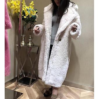 90 % Wool 10% Cashmere Real Fur Winter Suit Nature Teddy Bear Coats
