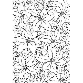 Holzgeschirr klar Singles Poinsettia Spitze 4 in x 6 in Stempel