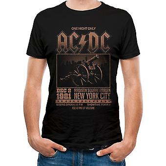 AC/DC Unisex Adults Madison Square Garden Tulosta T-paita