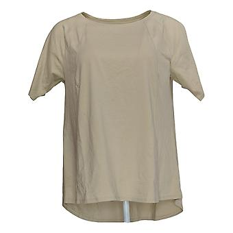 Chiunque Donna's Top Cozy Knit Short-Sleeve Swing Beige A349828