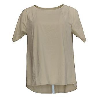 N'importe qui Femmes's Top Cozy Knit Short-Sleeve Swing Beige A349828
