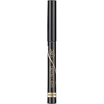 マックスファクター パーフェクト ステイ 厚 & 薄いアイライナー ペン - 090 ブラック