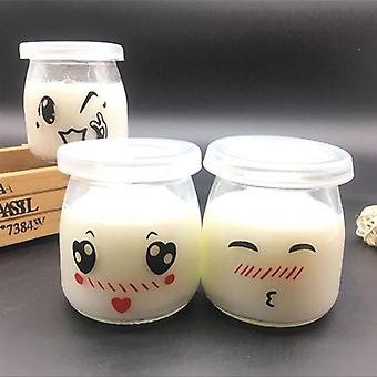 Heat-resistant Pudding Glass Bottle Yogurt Container Milk Mousse Cup Jelly Jar