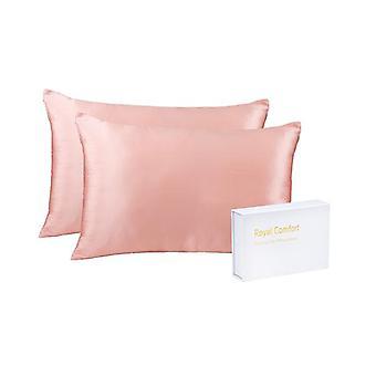Royal Comfort Mulberry Soft Silk Hypoallergenic Pillowcase Twin Blush