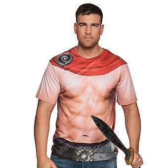 Shirt Spartan Men's Polyester Crame / Red Size L