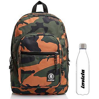 Plecak kamuflażu Jelek Fantasy Invicta + butelka z białą wodą
