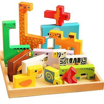 Hádanky pro batolata vzdělávací hračky dárek pro 2 3 4 rok starý, zvířecí školka Montessori hračky