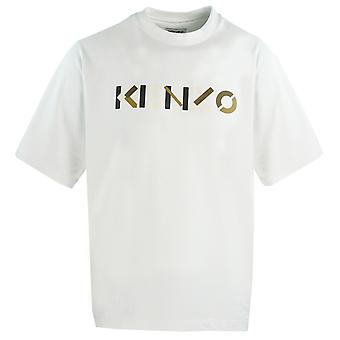 Kenzo Mens Multicolour Logotipo Branco Oversized T-Shirt