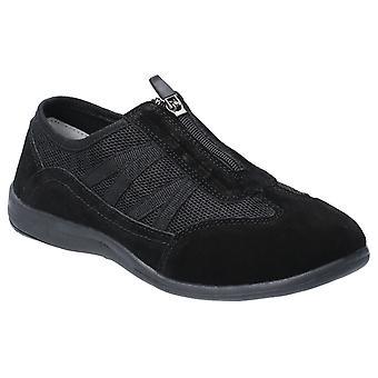 Fleet & Foster mombassa leather womens ladies trainers black UK Size