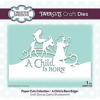 Coleção de cortes de papel de expressões criativas - Cortes de Natal Morre - Nasce uma Criança