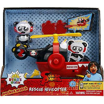 Ryans world 6panda with helicopter