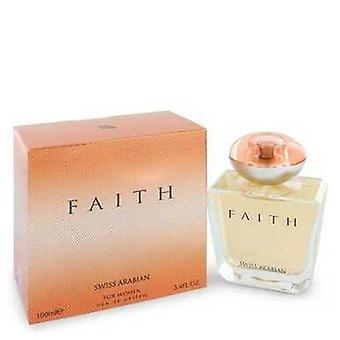 Swiss Arabian Faith de Swiss Arabian Eau de Parfum Spray 3,4 oz (mulheres) V728-546269