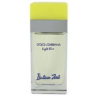 Lichtblauwe Italiaanse Zest Eau De Toilette Spray (Tester) Van Dolce & Gabbana 3.4 oz Eau De Toilette Spray
