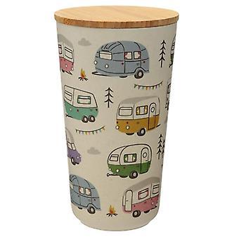 Grande recipiente de armazenamento composto de bambu caravana wildwood