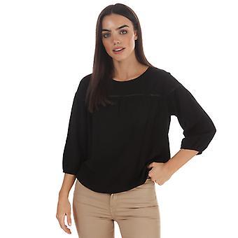 Women's Jacqueline de Yong Riana 3 Quarter Sleeve Top in Black