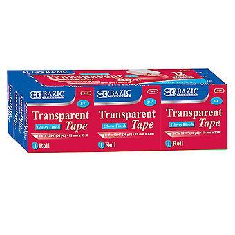 """Tape Refill, Transparent Tape, 3/4"""" X 1296"""", 12 Rolls"""