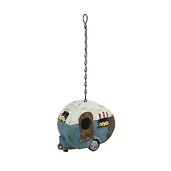 Rustic Country Travel Trailer Camper Birdhouse for Small Birds