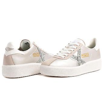 Sneaker Donna Munich Barru Sky 61 Argento Con Glitter