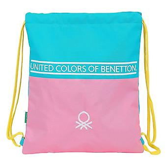Rugzak met snaren Benetton Geel Roze Turquoise