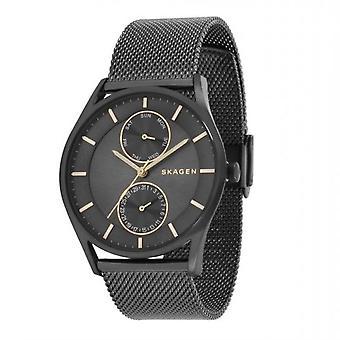 Reloj análogo de Skagen hombres con metal plateado acero inoxidable SKW6180
