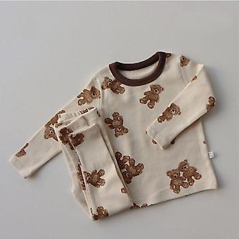 Baby Pyjama Set, süße Baumwolle Langarm Sleepwear