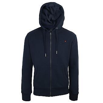 Superdry men's rich navy classic zip hood