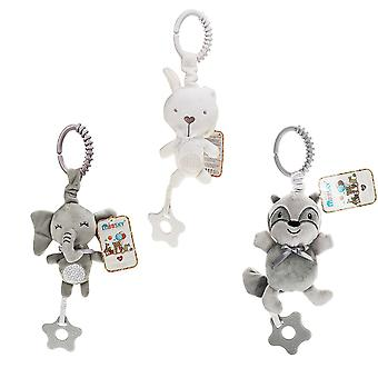 3pcs Bear Rabbit Elephant Rattle Toys With Chimes Sound Paper Music Box Teether Plush Baby Hanging Toys Rattling Doll For Infant