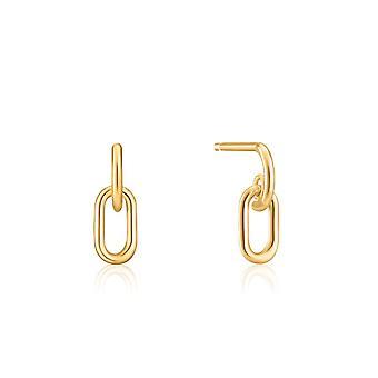 Boucles d'oreilles Ania Haie Gold Link Stud E099-02G