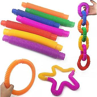 7pcs Color Rodent Pioneer Pop Tube Telescopic Tube Children Adult Vent