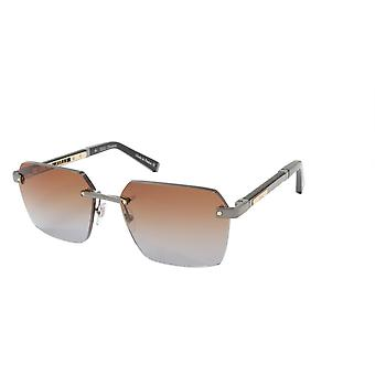 ZILLI Solglasögon Titanacetat Läder Gradient Frankrike Handgjord ZI 65039 C03