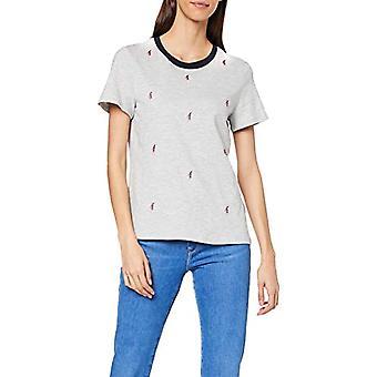 edc by Esprit 010cc1k315 T-Shirt, Grey (Light Grey 5 044), X-Small Woman