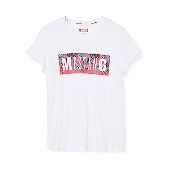 MUSTANG Alina C Print T-Shirt, Wit (Wei 2045), X-Small Woman(1)