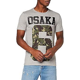 Superdry Osaka Tee T-Shirt, Grey Grit QOG, XS Men's