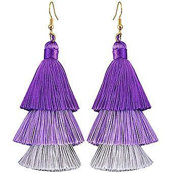KYEYGWO - Kvinnors örhängen med tofs, boh mien stil, med tråd, med kristaller och droppträd och legering, färg: Ref örhängen. 0715444084379