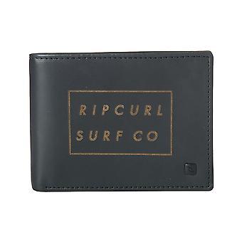 Rip Curl Surf Co RFID Billetera de cuero todo el día en negro