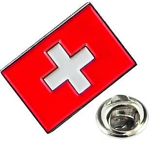 Ties Planet Zwitserse vlag van Zwitserland Revers Pin Badge