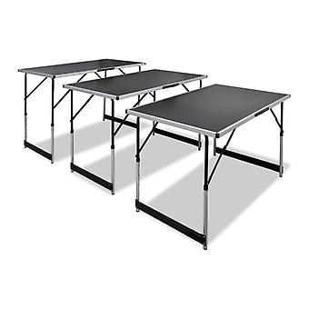 Wallpaper Table Foldable And Height Adjustable 3 Pcs