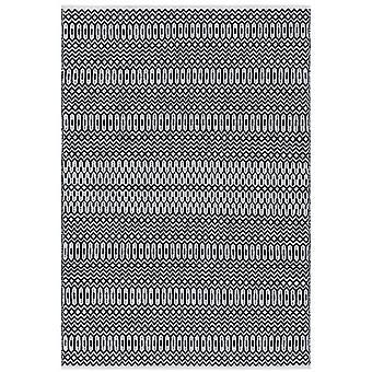 Halsey Geometric Outdoor Rugs In Black