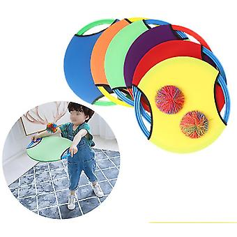 Children Elastic Ball Bouncing Ring Outdoor Fun Sports Toy Throw Catch Ball Funny Game Activity Toys