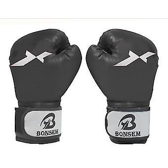 Bokshandschoenen voor mannen Sanda vechten vechten bokshandschoenen ponsen handschoenen (zwart)