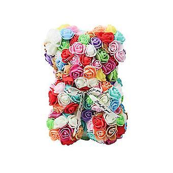 Valentine's day gift 25 cm rose bear birthday gift£¬ memory day gift teddy bear(Colorful)
