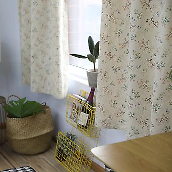 Swotgdoby Simple And Modern Finished Cotton Flower Printing Curtain