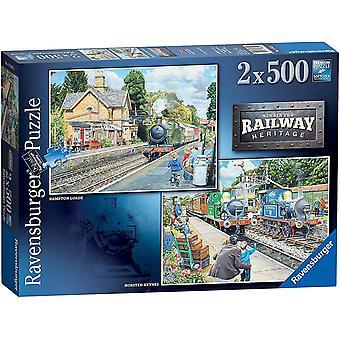 Ravensburger Rautatieperintö nro 2 Palapelit (2 x 500 kappaletta)
