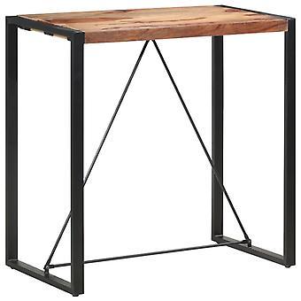 """שולחן בר vidaXL 110 x 60 x 110 ס""""מ עץ מלא"""