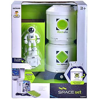 Space Station Playset Toys With Lights & Sound & Astronaut Figure