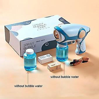 2020 New Summer Smoke Magic Bubble Machine Electric Automatic Bubble Blower Machine Gun (Blue)