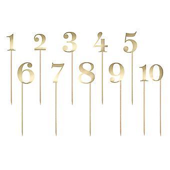 SISTE FÅ - Gullkortnummervalg for bordnumre eller bursdagskaker