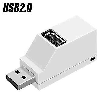 (Alb-USB 2.0) USB HUB 3.0 USB 2.0 De mare viteză 3 Port Multi Splitter Expansion PC Laptop Adapter