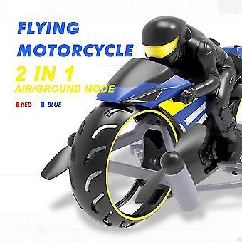 Мотоцикл 2in1 Земля и воздух Двойной режим Аккумуляторная трюковая игрушка с прохладным светодиодным светом RC моторные игрушки
