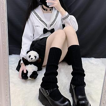 Beinwärmer Japanische süße Beinwärmer Wollkugel Gestrickte Fußbedeckung